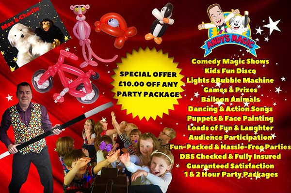 children's entertainer - kids magician - Stourbridge