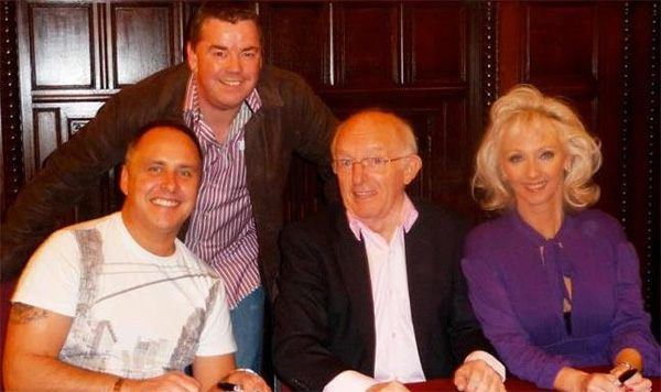 Andy the Magician after gig with Paul Daniels, Debbie Magee, Martin